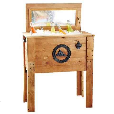 Wooden Rustic Mountain Outdoor Patio Cooler