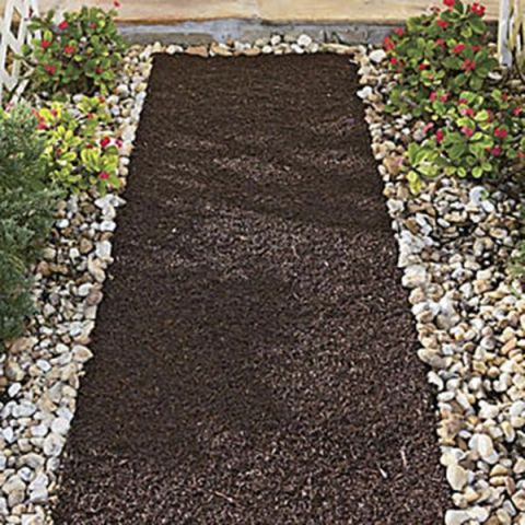 Six Foot Recycled Rubber Reversible Landscaping Mulch Pathway Mat
