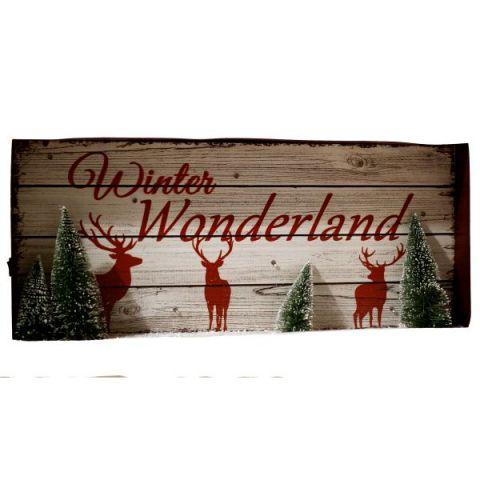 Winter Wonderland Holiday Sign With LED Light