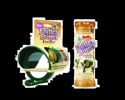 Jacobi Jayne Flutter Butter Feeder & Peanut Butter Combo