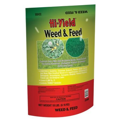 Hi-Yield Weed and Feed With 15-0-10