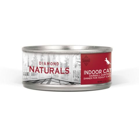 Natural Indoor Hairball Dinner Canned Cat Food