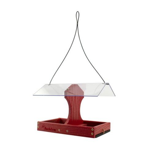 Woodlink Two-Sided Cardinal Platform Going Green Feeder