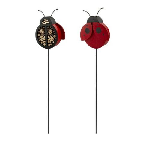 Woodlink Lady Bug Insect Shelter Yard Stake