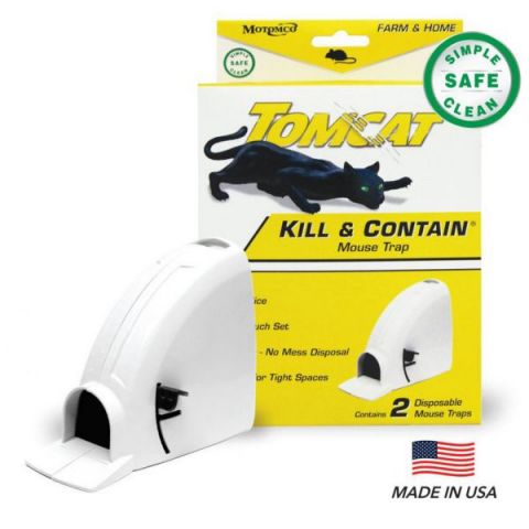 Tomcat Mouse Trap Kill & Contain 2 Pack